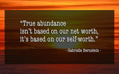 Feeling abundant